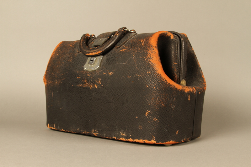 2017.541.3 3/4 view Medical bag used by an Austrian Jewish physician
