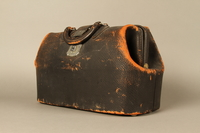 2017.541.3 3/4 view Medical bag used by an Austrian Jewish physician  Click to enlarge