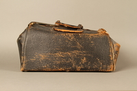 2017.541.4 front Zippered leather medical bag used by an Austrian Jewish physician  Click to enlarge