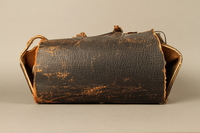 2017.541.4 back Zippered leather medical bag used by an Austrian Jewish physician  Click to enlarge