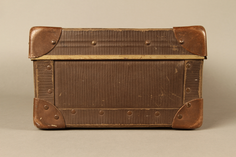 2017.541.5 right Small suitcase with a metal handle used by a Jewish Austrian physician