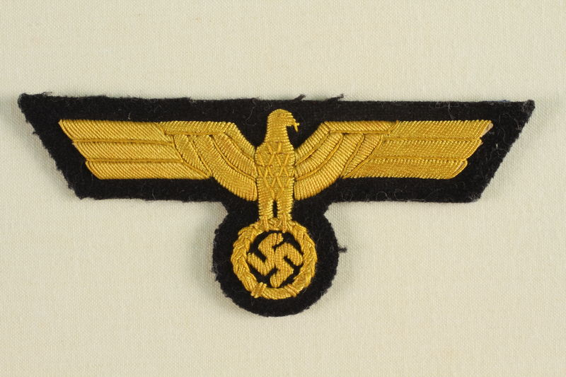 1992.104.2 front Reichsadler (Imperial Eagle) shaped patch acquired by a US soldier
