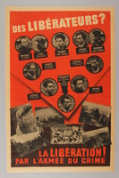 1992.105.1 front Poster issued by the Gestapo to discredit executed French resistance members  Click to enlarge