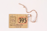 1992.120.2 front Identification tag  Click to enlarge