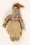 Yarn doll, bag, and scrap of money found in a liberated camp by US soldier