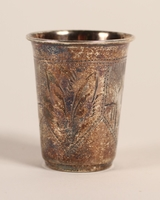 Hammered silver kiddush cup  Click to enlarge