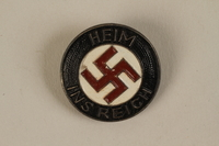 1992.127.13.1 front Swastika lapel pin  Click to enlarge