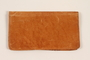 Light brown leather billfold used by a Polish Jewish refugee