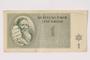 Theresienstadt ghetto-labor camp scrip, 1 krone note