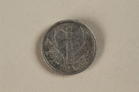1992.142.4 front France, 50 centime coin  Click to enlarge