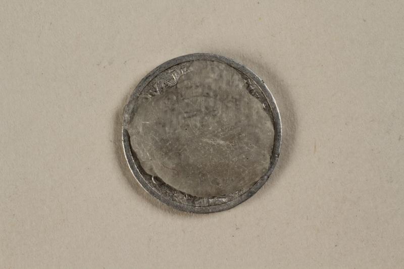 1992.142.4 back France, 50 centime coin