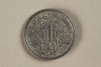 1992.142.5 front France, 1 franc coin  Click to enlarge