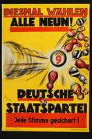 2017.597.1 front 1932 election poster  Click to enlarge