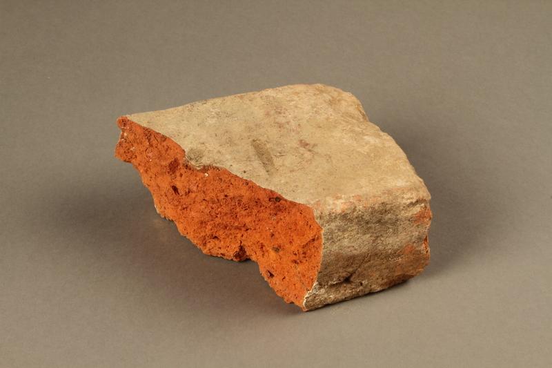 2017.441.1_b top Broken brick manufactured by the Kőszeg brick factory