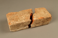 2017.441.1_a-b bottom Broken brick manufactured by the Kőszeg brick factory  Click to enlarge