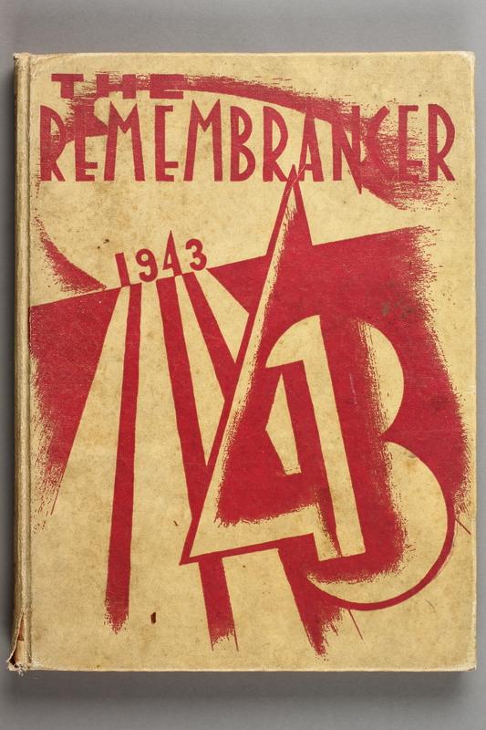 2017.579.1 cover 1943 Walnut Hills HIgh School yearbook