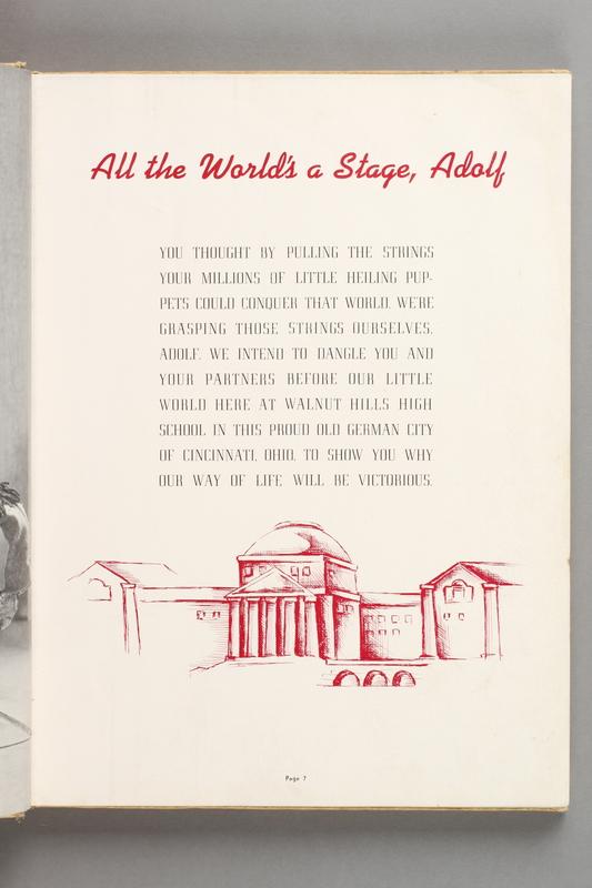 2017.579.1 page 7 1943 Walnut Hills HIgh School yearbook