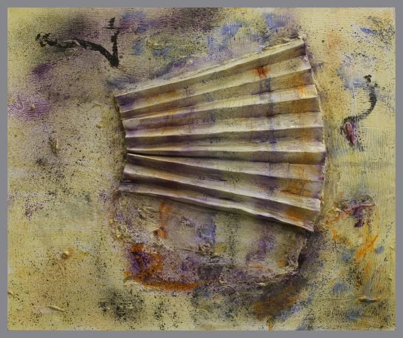 1992.16.1 front Abstract mixed media painting