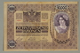 Austrian 10,000 Kronen banknote owned by a Viennese Jewish refugee family