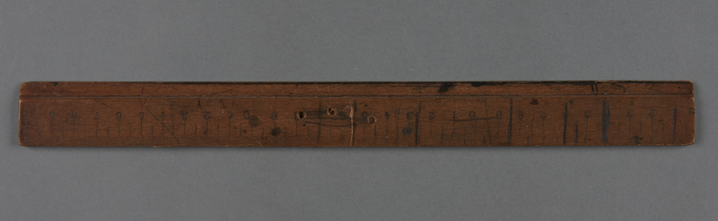 2017.517.2 front Metric wooden ruler owned by a young Austrian Jewish refugee girl