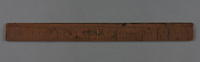 2017.517.2 front Metric wooden ruler owned by a young Austrian Jewish refugee girl  Click to enlarge