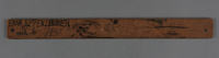 2017.517.2 back Metric wooden ruler owned by a young Austrian Jewish refugee girl  Click to enlarge