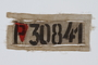 Prisoner badge with number and red triangle