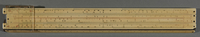 2018.24.2 a front Slide rule with leather case  Click to enlarge