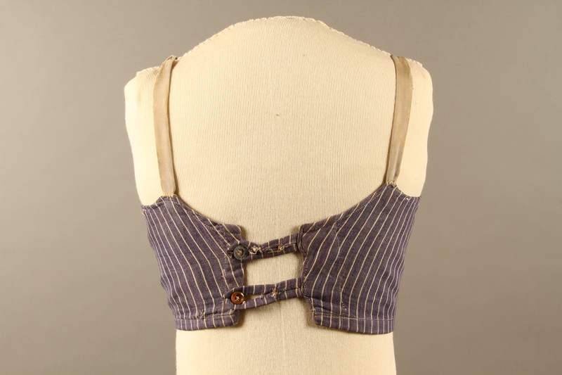 2018.70.3 back Brassiere made for a German Jewish woman in a forced labor camp
