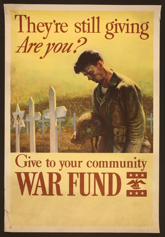 "2017.595.4 front Poster, ""They're still giving/Are You? Give to your Community War Fund"""