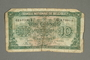 Belgium, 10 francs or 2 belga note, acquired by a German Jewish refugee in the British army