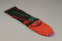 2017.609.9 b bottom Pair of wool mid-calf socks worn by a Yugoslavian man  Click to enlarge