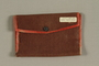 Small wallet handmade from red paper from the German occupation