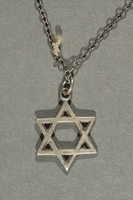 2018.70.6 back Star of David pendant and chain worn by a German Jewish woman  Click to enlarge