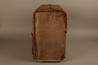 2018.426.2 right Brown cloth and leather trimmed suitcase used by an American internee  Click to enlarge