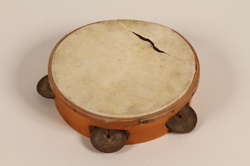 1992.169.23 front Tambourine used by kindergartners prewar in the Eisiskes shtetl