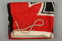 Large red Nazi War ensign acquired by a US Army concentration camp liberator