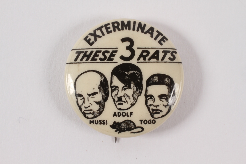 2015.224.10 front Anti-Axis pin calling for the exterminaton of Axis rats