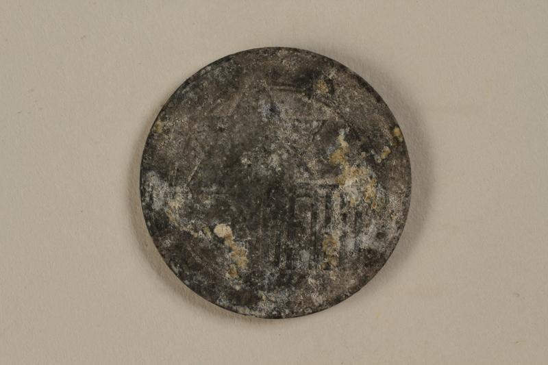 1992.179.4 front Łódź (Litzmannstadt) ghetto scrip, 10 mark coin