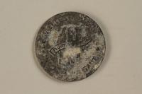 1992.179.4 back Łódź (Litzmannstadt) ghetto scrip, 10 mark coin  Click to enlarge