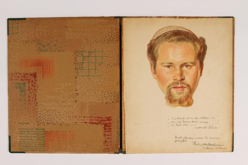 2015.254.2 open Drawing of a man in a kippah