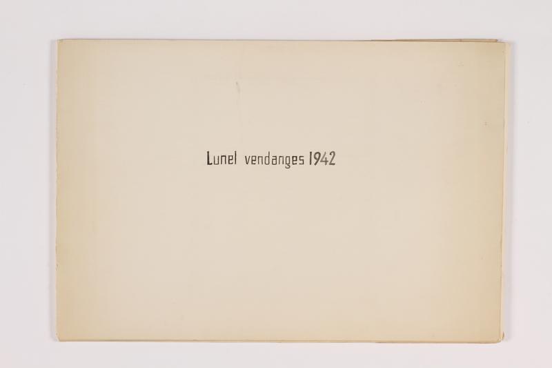 2010.502.57.1 front Lunel Vendages 1942