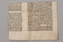 Desecrated Torah fragment used as wrapping