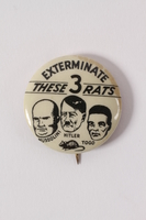2015.238.2 front Anti-Axis pin calling for the extermination of Axis rats  Click to enlarge