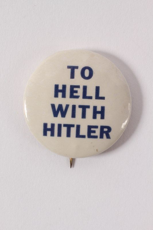 2015.224.11 front To Hell with Hitler pin
