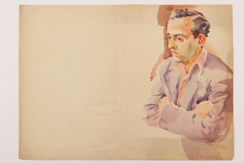 2010.502.46 front Watercolor portrait
