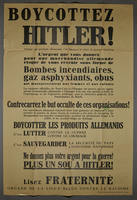 2001.117.2 front French anti-Hitler poster  Click to enlarge