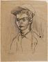 Portrait of a male survivor drawn postwar by a former Polish slave laborer