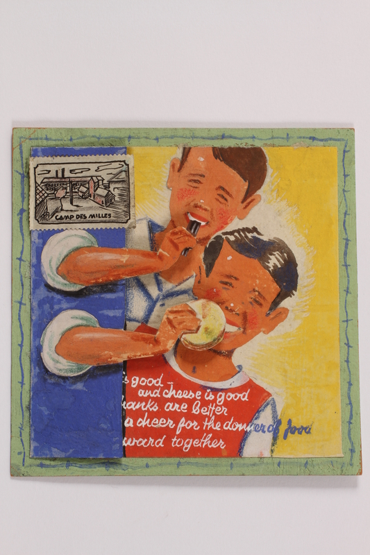 2014.500.2 closed Card made by two young internees to thank a US aid worker