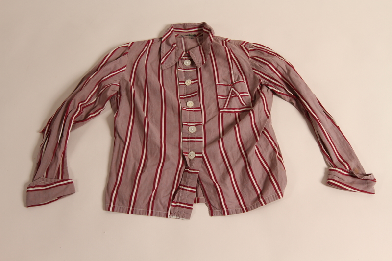2014.512.2 a front Pajama set owned by a Czech Jewish girl who escaped on a Kindertransport